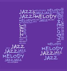 Jazz melody purple bg vector