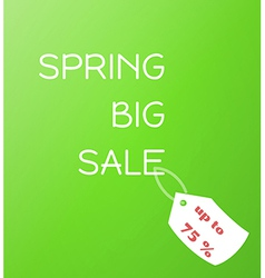 Spring sale green gradient background vector