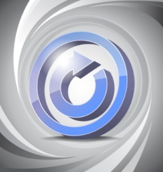 3D icon reload background vector image vector image