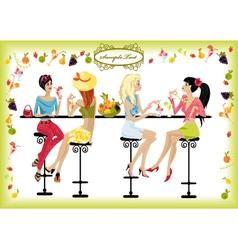 Summer cafe vector