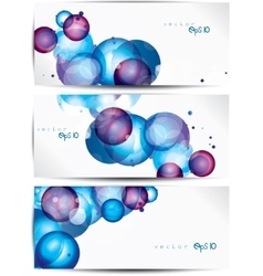 Set of abstract colorful web headers and cards vector