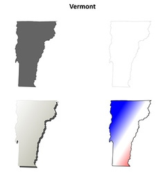 Vermont outline map set vector