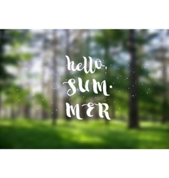 Hello summer super colorful design vector
