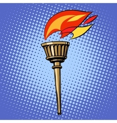 Sports torch fire torchbearer vector