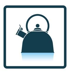 Kitchen kettle icon vector