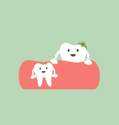 baby tooth and mom - first teeth concept vector image vector image