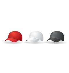 baseball hats templates uniform cap vector image