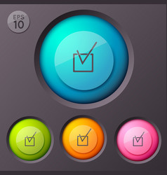 Checkbox pictogram buttons background vector