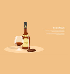 Cognac and chocolate vector