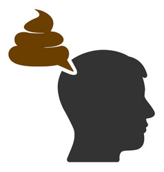 Crap thinking person flat icon vector