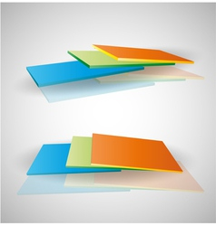 Decorative colorful panels vector image