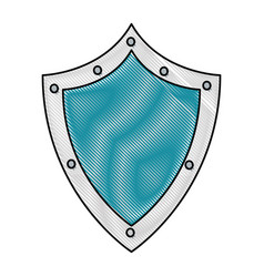 Drawing shield protection data system digital vector