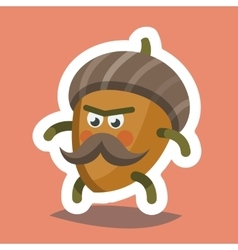 Emoticon icon cheeky nut vector