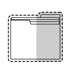 file folder icon image vector image vector image