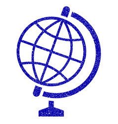 Global icon grunge watermark vector
