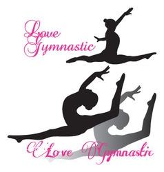 Gymnastic gymnast Silhouettes set vector image vector image
