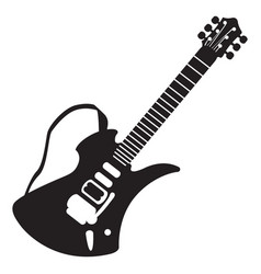 Isolated guitar silhouette vector