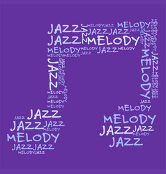 jazz melody purple bg vector image vector image