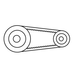 Mechanic belt icon outline style vector