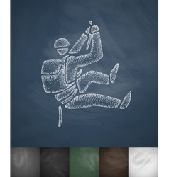 Mountaineer icon hand drawn vector