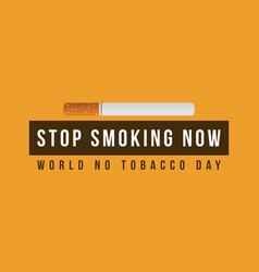 no tobacco day background vector image vector image