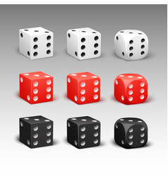 set of different dice vector image vector image