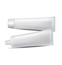 set of plastic tube for medicine or vector image vector image