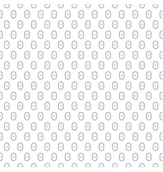 small oval shapes seamless pattern vector image