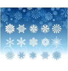 Snowflakes collection set vector