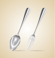 spoon and fork vector image