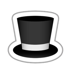 Top hat icon image vector
