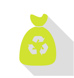 Trash bag icon pear icon with flat style shadow vector