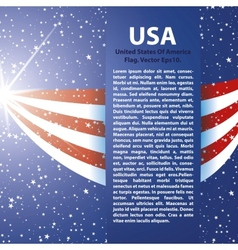 United states of america flag background usa vector