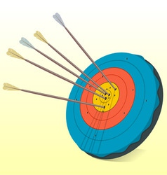 vintage target and arrows vector image