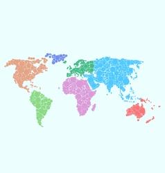 World Soft Bubbles Colors Soft vector image vector image