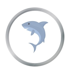 Shark icon cartoon singe animal icon from the big vector