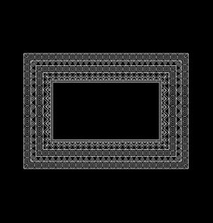 Ornate frame and borders set vector