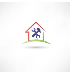 Repairing a house redicon vector