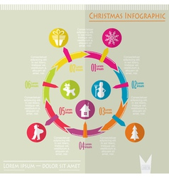 Christmas infographic vector