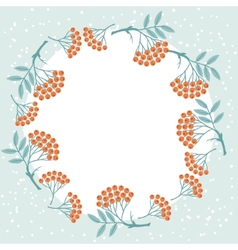 Winter background design with stylized rowan vector