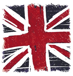 Flag of United Kingdom UK Great Britain handmade vector image