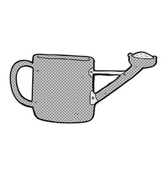 Watering can comic cartoon vector