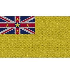 Flags niue on denim texture vector