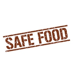 Safe food stamp vector