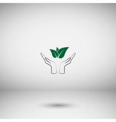 Green eco friendly sign vector
