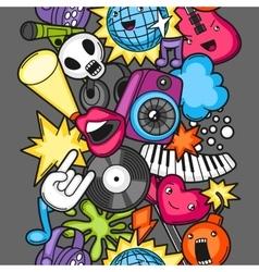 Music party kawaii seamless pattern musical vector