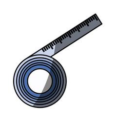Body tape measurement vector