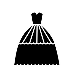 bridal evening dress icon vector image