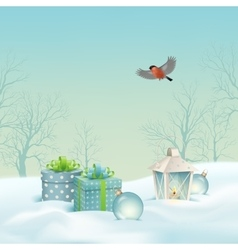 Christmas winter landscape vector