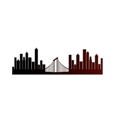 cityscape sky line isolated icon vector image